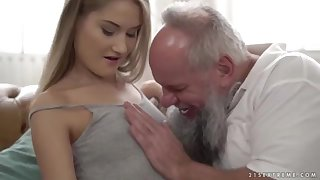 Nubile ultra-cutie vs senior grandfather - Tiffany Tatum and Albert
