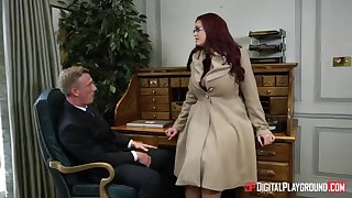 Alessandra Jane and Emma are having a 3some in their office, as opposed to of doing their job