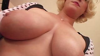 Seductive Egypt shows her chubby tits with the addition of pleasures a hard boner