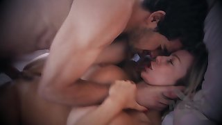 Big-Chested towheaded mommy lets her step- sonny slurp her vag and louse up her from the more