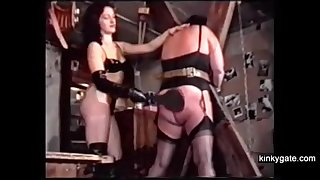 Sadistic French couple Michel and Louise training a chunky slave mom.