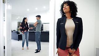 Ebony unalloyed estate agent fucked client