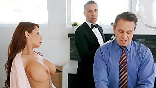 Horny butler is ready less anal fuck housewife