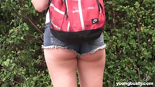 Outdoor lesbian pussy soreness with teens Daphne coupled with Lexi Squirt