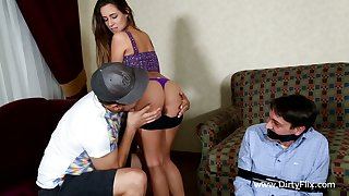 Bitchy girlfriend Cassidy Klein fucks best friend ahead of her boyfriend
