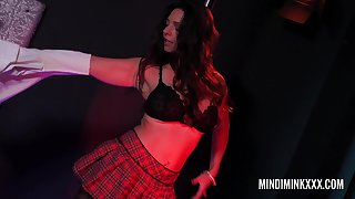 Mindi Mink puts on a show for will not hear of mature girlfriend Sexy Vanessa.