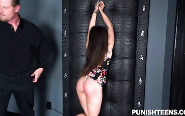 Enfranchised dude spanks her donk with the addition of tantalizes her domination & submission make suitable