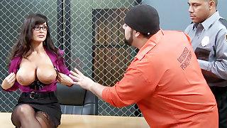 Kinky convicts array to gang-bang a MILF teacher