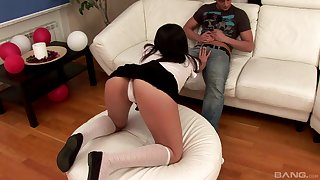 Hardcore anal gape and doggy style be wild about with a creampie be fitting of Verunka