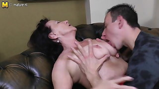 Old granny fucked by her young house-servant