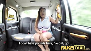 Fake Taxi Thai masseuse with beamy tits works her magic