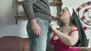 German Young Wretch seduce Granny Nun to Have a passion Him