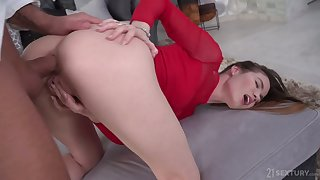Rather wild and undevious Russian cowgirl Lovenia Lux gets anus stretched