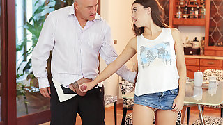 DADDY4K. Gentle padre of guy is better in frieze with girl..