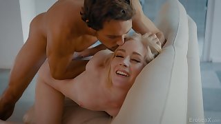 Sexy young blonde loves it the way her BF fucks her