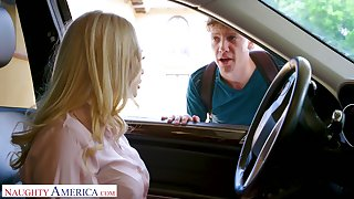 Mouth watering blond cram Claudia Valentine seduces one of her students