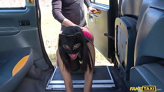 Covered Maya spreads their way legs in get under one's cab of a cock while she screams
