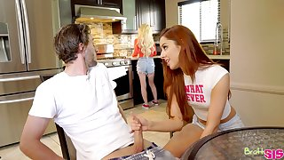 Ginger chick Vanna Bardot bangs enticing friend's brother in be appropriate