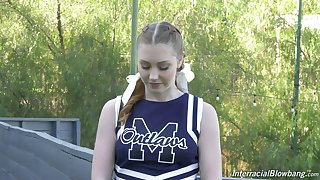 Ardent and lovely sporty cheerleader Arietta Adams in kinky interview xxx vid