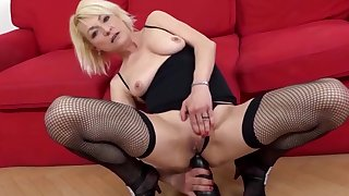Matures Riding Huge Toys Anally Compilation Part 1