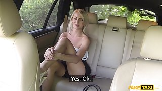 Blonde Katy Pinkish ridding a long stranger's pecker apropos the car