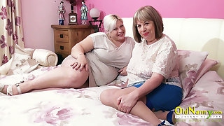 OldNannY Four Hot Matures and Three Hard Cocks