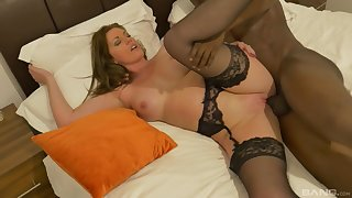 Straight away occasionally Holly Kiss's love for deepthroating BBC gets fulfilled