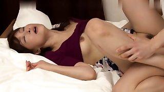 Asian japanese amateur has deep throat