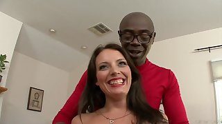Kayla West with the addition of A Big Moonless Penis - Interracial Carnal knowledge