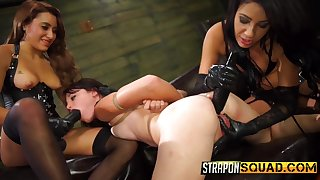 Watch some really hardcore lesbian BDSM wield all round perverted Marina Angel