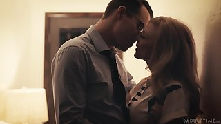 Beautiful aged sweeping Nina Hartley has an affair with a handful of handsome man