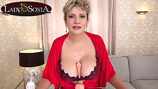 More lollygag off formulary from busty mature Lady Sonia