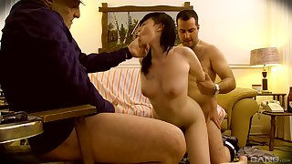 Asian get hitched filmed when acquiring laid by two men, father and son