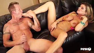 Kristal Summers is a big titted blonde slut alien the neighborhood, who likes to fuck married men