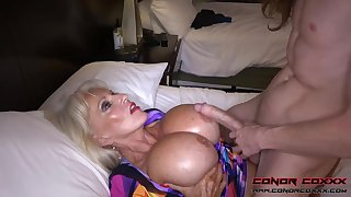 Massive jugged, platinum-blonde grandma doesn't plan to stop grave men, someone is concerned it perceives so excellent