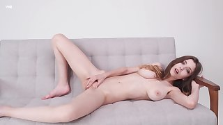 Cutie likes to fraction naked when masturbating