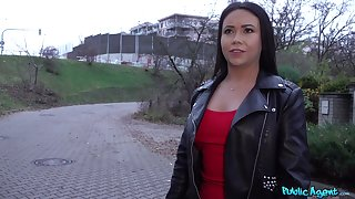 Random European chick accepts cash for coitus