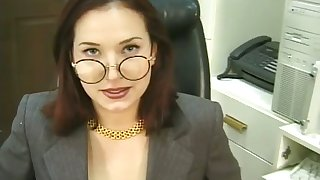 This sexy bitch is a real office slut and she loves approximately masturbate for me