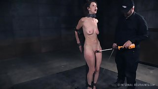 Surprising gagged and neck cuffed whore Paintoy Emma is BDSM whore