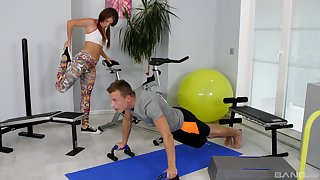 Hot generalized Mila Fox cares more about sex than she does working out