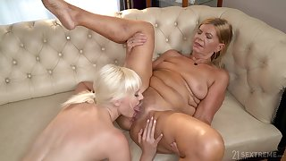 Dirty mature Miss Melissa loves having fun with sexy Samantha