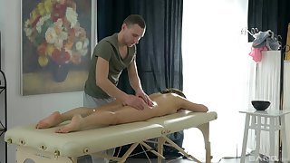 Sexy nympho Erin has more than a minor religiosity encircling her masseur