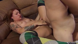 Cum on pussy ending for sexy girlfriend Alyssa Branch after nice sex
