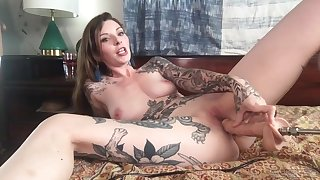 Tattooed solo wholesale Penny Archer enjoys playing on every side a large toy