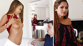 Stepmom help a youthfull duo with very major fuckfest