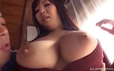Stunning Nonami Shizuka enjoys slurping on a delicious cock
