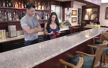 Angela White spreads say no to legs be advisable for a fuck with a guy in a bar